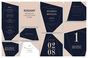 Polygon Wedding Invitation Suite