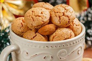 Traditional Italian almond cookies