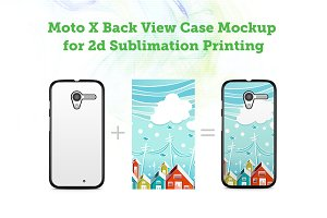 Moto X 2d Sublimation Case Mock-up