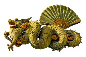Dragon Sculpture Photo Isolated