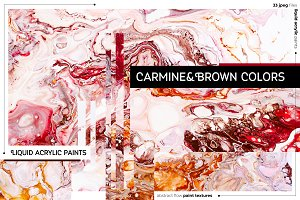 Carmine & Brown liquid textures