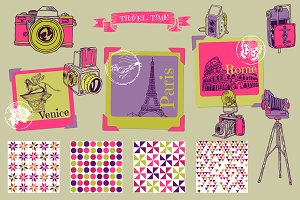 Vintage Photocamera Scrapbook set