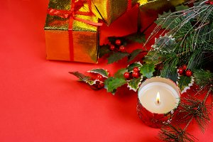 Christmas gift with holiday