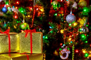 Christmas holiday background Gifts