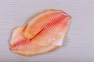 Raw fresh fish fillet tilapia