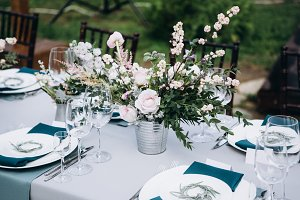 Wedding table decoration outdoor