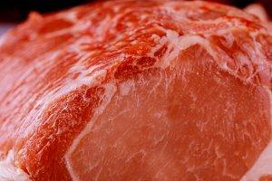 Organic raw pork with ribs.