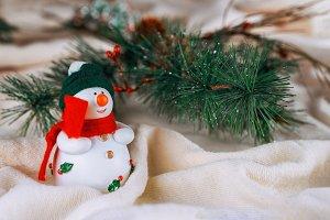Christmas tree background decoration