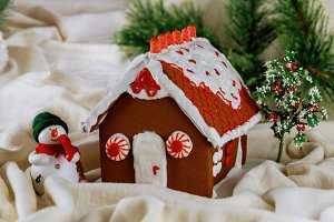 Gingerbread house. Christmas holiday