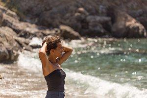 Self-confident solo traveller female