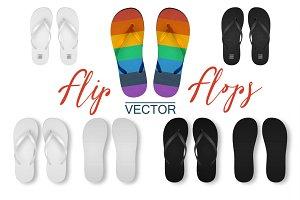 Flip-Flops. Vetor Set.