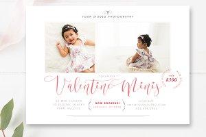 Valentine Mini Session Template