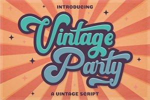 Vintage Party - Bold Retro Font