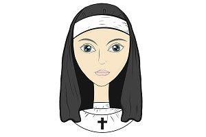 Vector, nun, sister of mercy