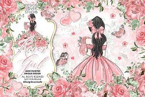 -50 % Roses Girl design