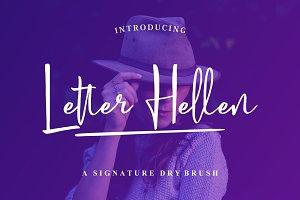 Letter Hellen Signature Dry Brush