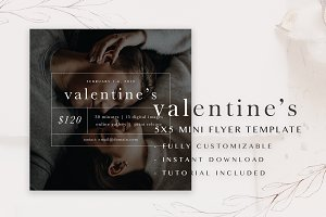Valentine's Mini Flyer Template 5x5