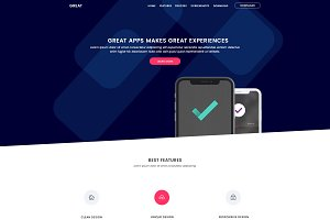 GREAT – App Landing Page