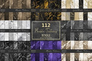 Gold and Silver Mixed Marble Texture