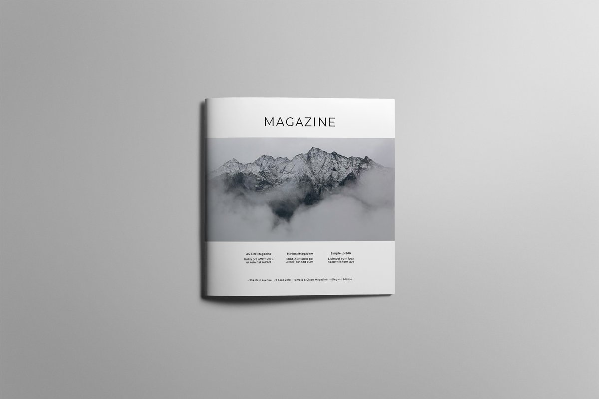 Square Magazine Template