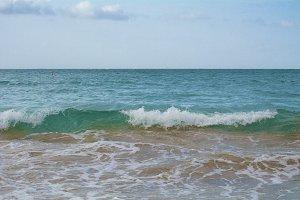 Caribbean Waves and Foam