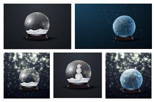 Christmas snow globe new year