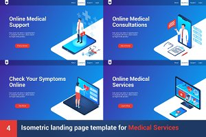 Isometric landing page template
