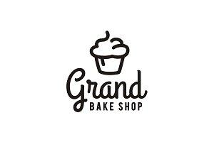 Simple Cupcake Bakery Bake Shop Logo