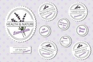 Set of labels – Lavender