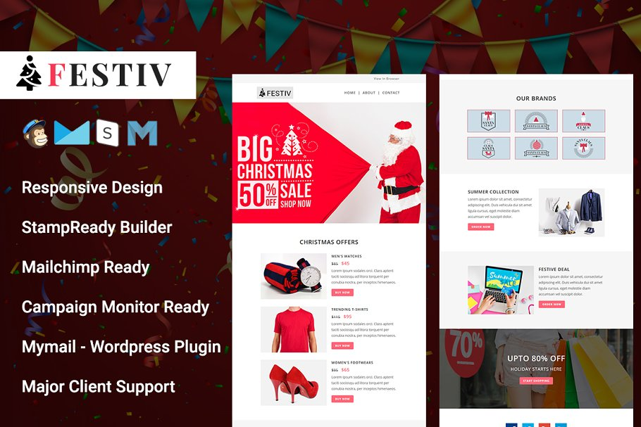 FESTIV - Responsive Email Template