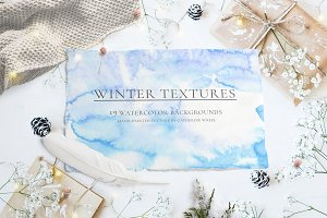 Watercolor Winter Textures