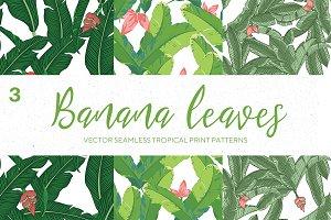 Seamles Banana Leaves pattern