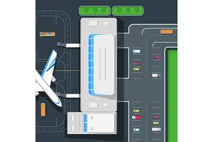 Parking at the Airport. Emplanement