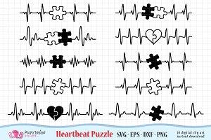 Autism Heartbeat SVG