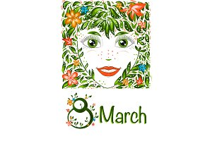 Spring Beautiful girl  portrait.