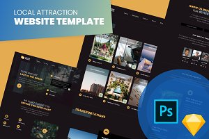 Local Attraction Website Template