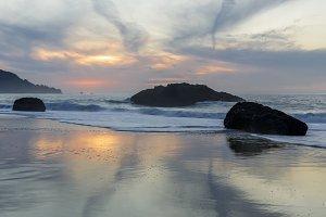 Marshall's Beach Winter Sunset