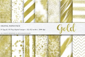 Gold Background Digital Papers