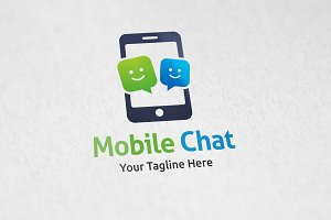 Phone Chat - Logo Template