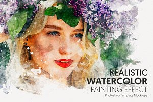 #1 Watercolor Photoshop Mock-ups