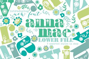 Anna Mea Lowercase Font