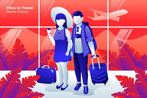 Time to Travel - Vector Illustration