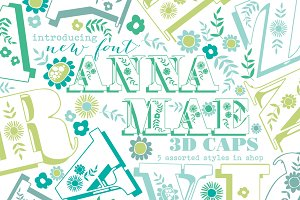 Anna Mea Shadowed Uppercase Font