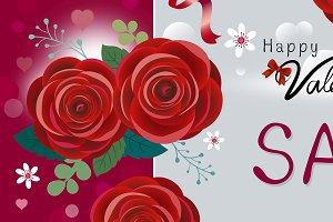 Happy Valentine's day sale design