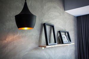 Lantern in loft interior