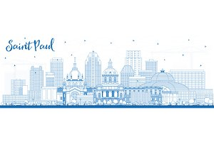 Outline Saint Paul Minnesota City