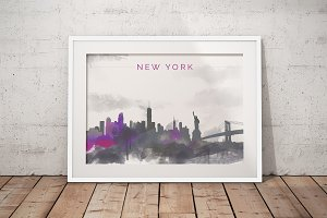 City Skyline print - New York