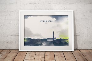 City Skyline print - Washington D.C.