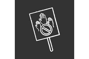 Protest banner chalk icon
