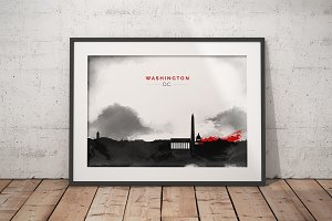 City Skyline print - Washington D.C.